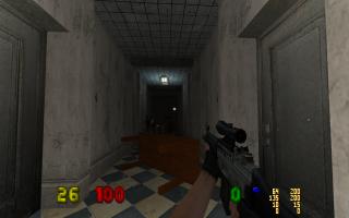 Přestřelka v chodbě